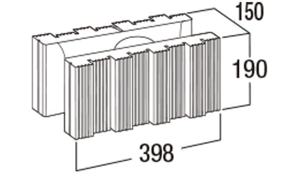 ウルトラC-寸法図-150基本形横筋