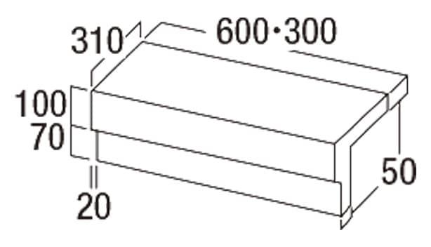 Gランド-寸法図-チリ付階段