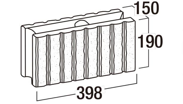 リブロックRX-寸法図-150-8W基本形横筋