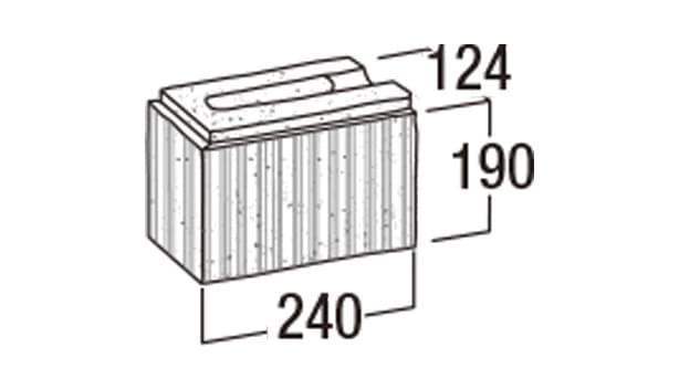 ニューライン500-寸法図-コーナー1/2
