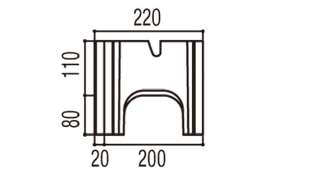 RECOM スクエア-寸法図-200基本側面