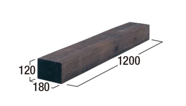 エクステリア・エコウッド-寸法図-エコウッド1200