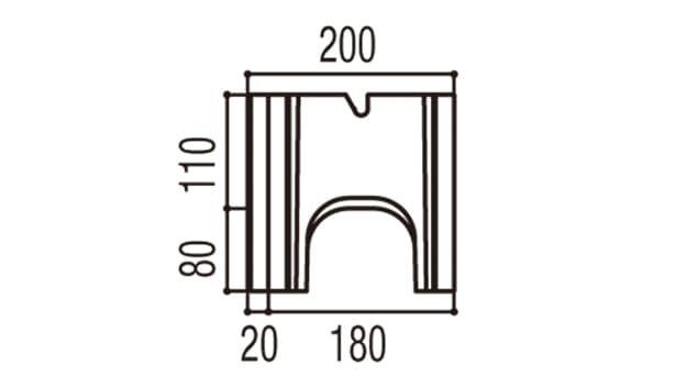 RECOM 2SP-寸法図-180基本側面