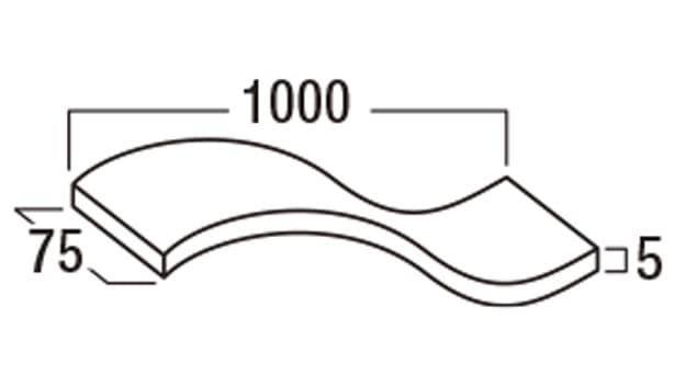 ガラスブロック/カクテルカラー/メタリックカラー-寸法図-エキスパンション材
