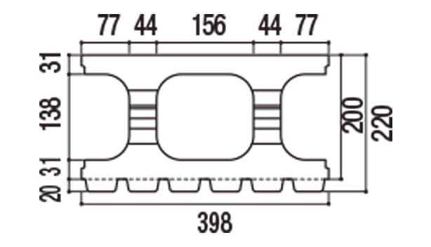 RECOM 6RB-寸法図-200基本上部