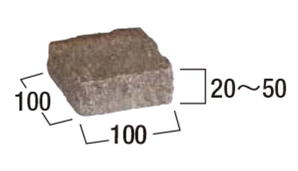 カミニート 方形-寸法図-半ピン ミックスカラー