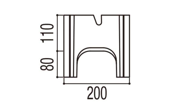 RECOM フラット-寸法図-200基本側面