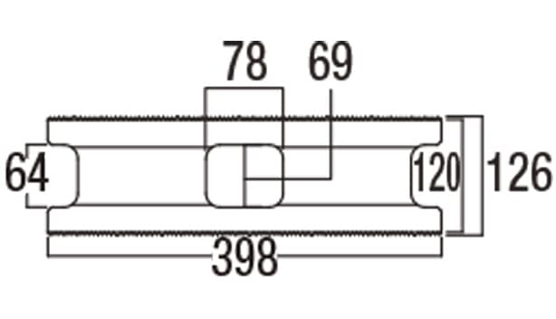 スーパーC種-寸法図-126基本形横筋上部