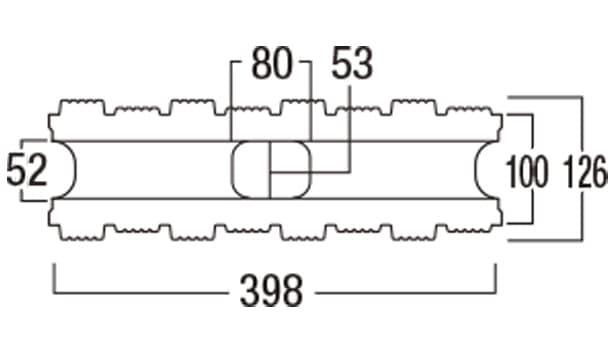 ウルトラC-寸法図-126基本形横筋上部