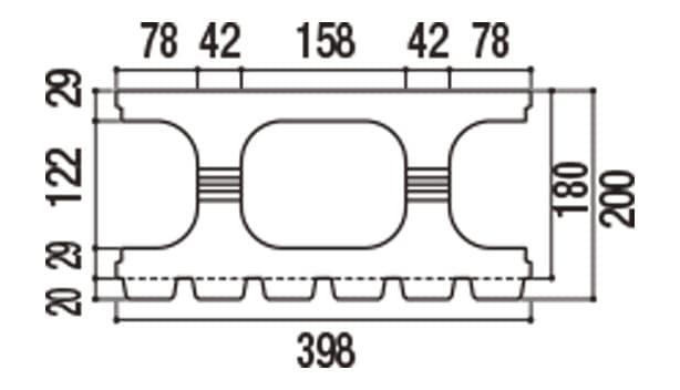 RECOM 6RB-寸法図-180基本上部