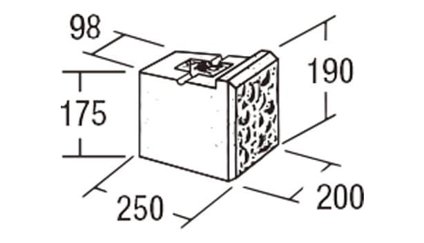 ABロック3°-寸法図-ジュニア
