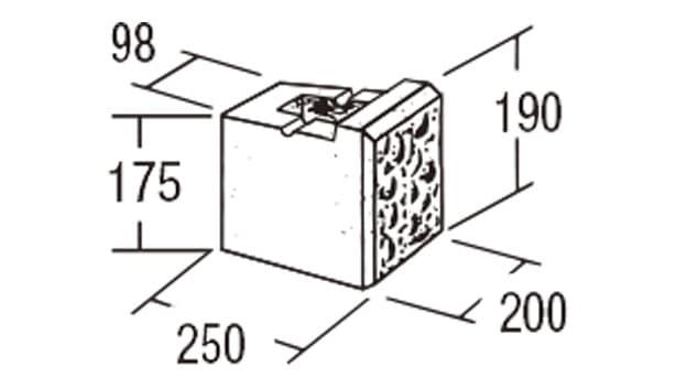 ABロック12°-寸法図-ジュニア