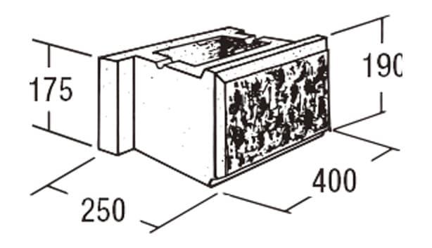 ABロック3°-寸法図-基本
