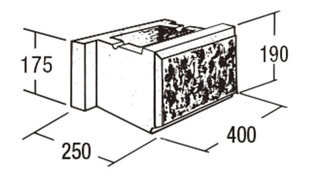 ABロック12°-寸法図-基本