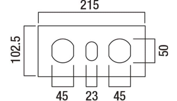 ショコラ・ブリック-寸法図-基本上部形状