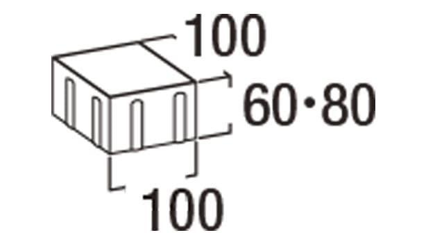 オールラウンドペイブ・スルー-寸法図-6S/8S