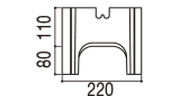 RECOM フラット-寸法図-220基本側面