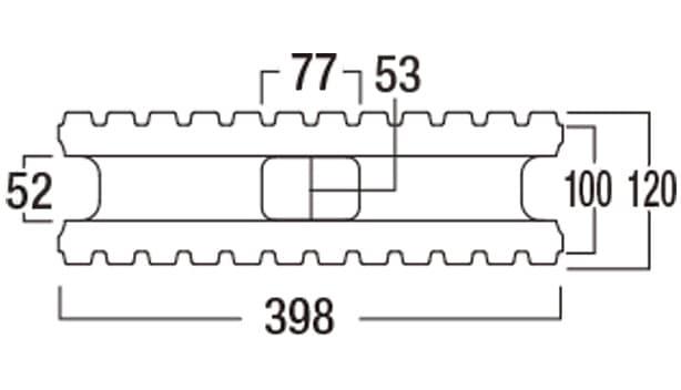 スマートC-寸法図-120基本形横筋上部