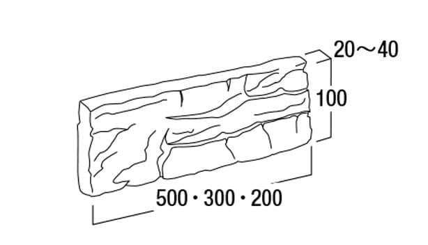 プレミア・ストーン-寸法図-フラット