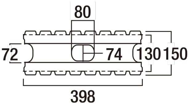 リブロックRX-寸法図-150-8W基本形横筋上部