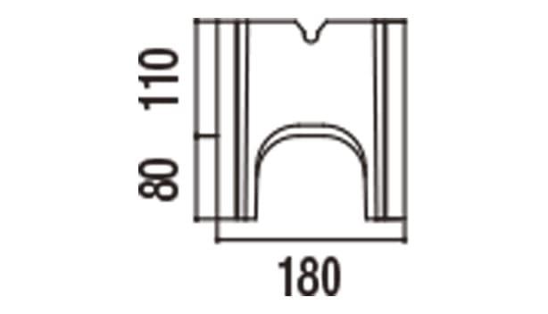 RECOM フラット-寸法図-180基本側面