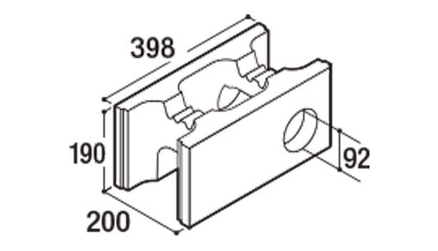 RECOM フラット-寸法図-200水抜き用