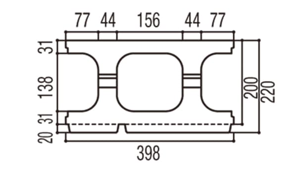 RECOM スクエア-寸法図-200基本上部