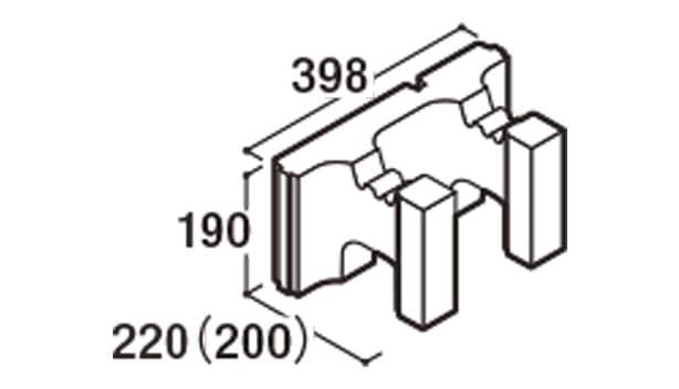 RECOM 2SP-寸法図-200ハンチ用