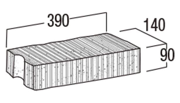 スーパーC種-寸法図-126笠木