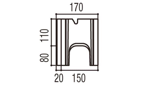RECOM 2SP-寸法図-150基本側面