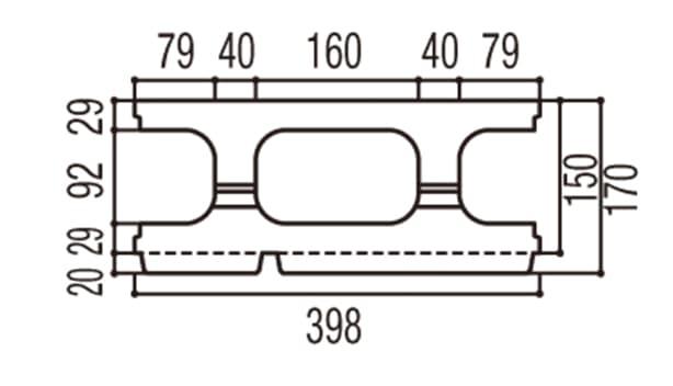 RECOM スクエア-寸法図-150基本上部