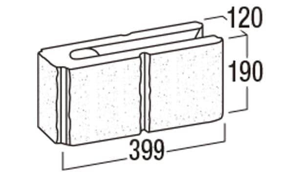 リブロックRX-寸法図-2Wコーナー