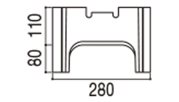 RECOM フラット-寸法図-280基本側面