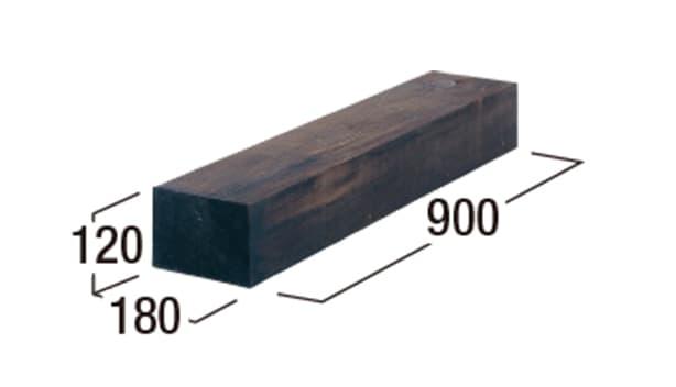 エクステリア・エコウッド-寸法図-エコウッド900