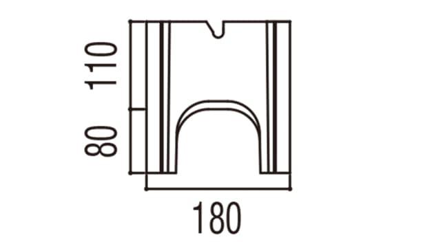 RECOM フラット-寸法図-150基本側面