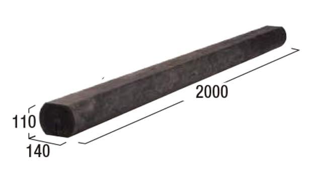 エクステリア・エコ杉-寸法図-2000