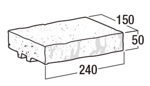 RB-120【補強れんが】-寸法図-笠木