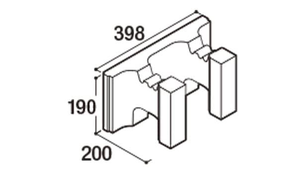 RECOM フラット-寸法図-200ハンチ用