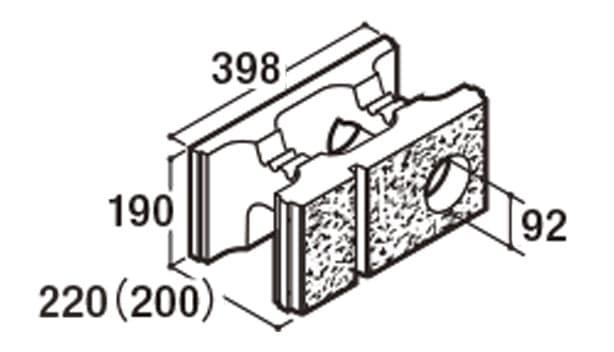 RECOM 2SP-寸法図-200水抜き用