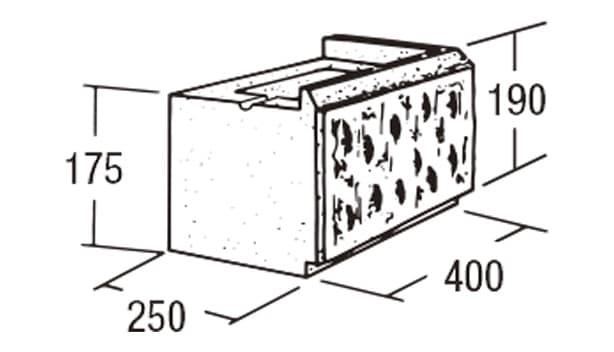 ABロック3°-寸法図-コーナー(右用)