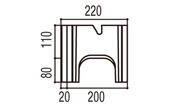 RECOM 2SP-寸法図-200基本側面