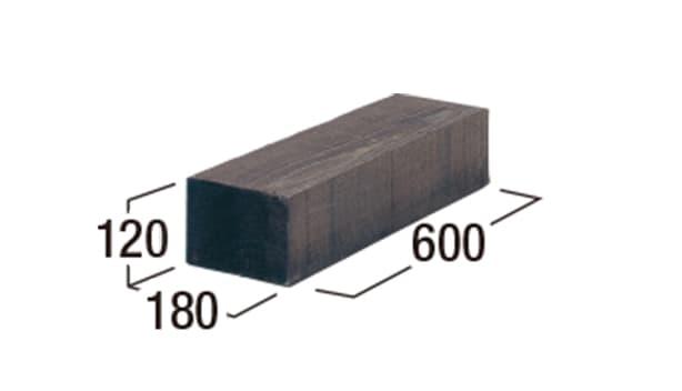 エクステリア・エコウッド-寸法図-エコウッド600