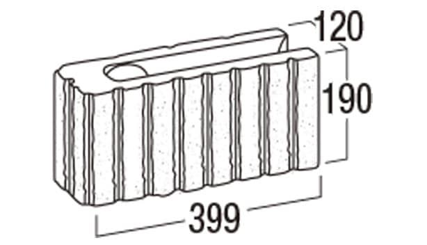 リブロックF-寸法図-8Sコーナー