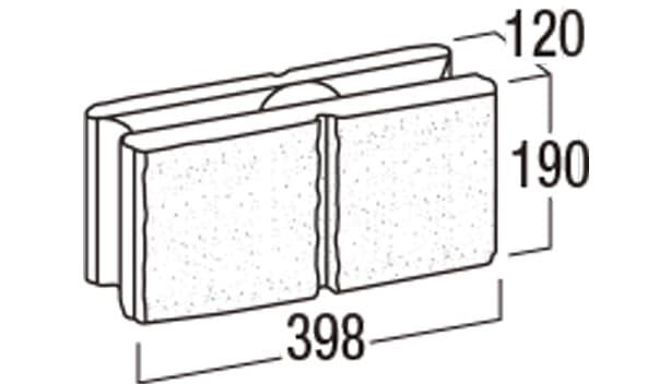 リブロックRX-寸法図-2W基本形横筋