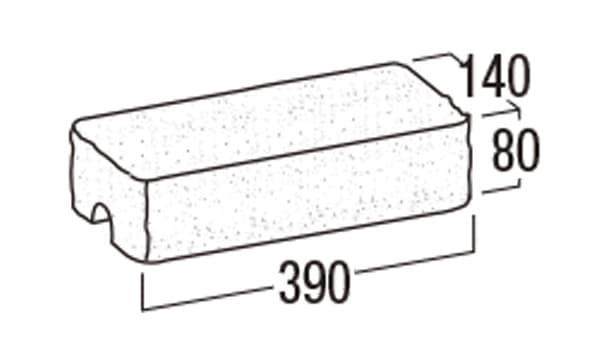 リブロックRX-寸法図-1W笠木
