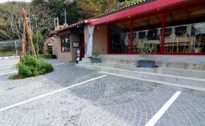 ピンコロ石の店舗駐車場_ピンコロ_グレー