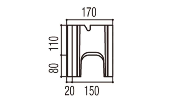 RECOM スクエア-寸法図-150基本側面