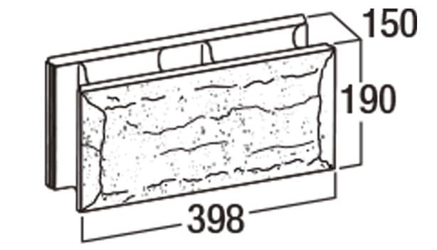ピッチフェイス100/200-寸法図-200基本形横筋