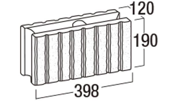 リブロックRX-寸法図-8W基本形横筋