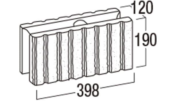 リブロックF-寸法図-8W基本形横筋